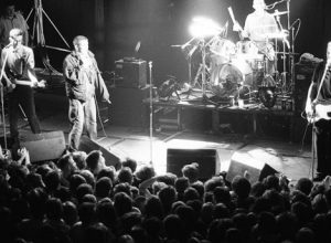 FLASHBACK HDM ARCHIVE LIBRARY IMAGES    The Housemartins peform at Hull City Hall on 27th October, 1986.  Keywords - gig gigs concert play band group - Norman Cook, Paul Heaton, Stan Cullimore, Hugh Whitaker, House Martins